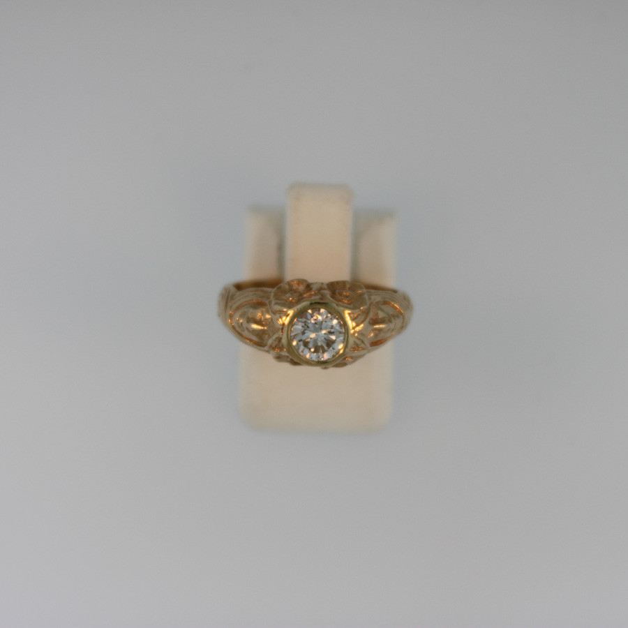 Bezel Set Diamond Ring  19180