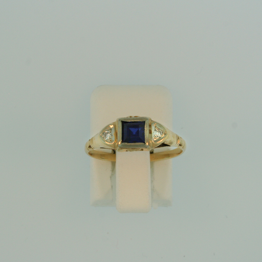 Synthetic Sapphire Ring 3009