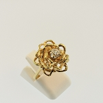 Flower Motif Diamond Ring 15975