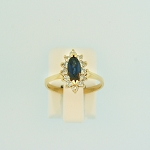 Sapphire and Diamond Ring 17712