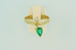 Emerald and Diamond Ring 18369