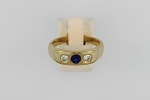 Mens Sapphire and Diamond Ring 18724
