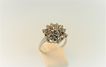 Diamond Cluster Style Ring 19203