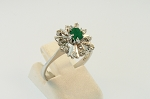 Emerald and Diamond Ring 19286