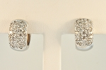 Diamond Huggie Style Earrings  19576