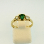 Emerald and Diamond Ring 19689