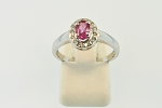 Pink Sapphire and Diamond Ring 19760