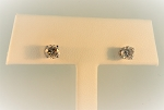 Champagne Color Diamond Stud Earrings 19965