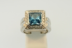 Blue Topaz Ring 20002