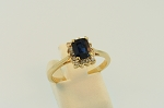 Sapphire and Diamond Ring 20129