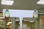 Opal and Diamond Earrings 20391