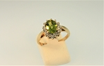 Peridot and Diamond Ring 20813