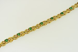 Emerald and Diamond Bracelet 18684