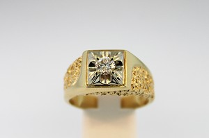 Nugget Style Diamond Ring 19081