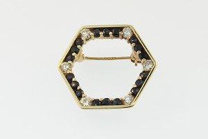 Sapphire and Diamond Pin 19244