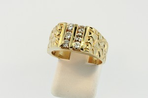 Mens Nugget Style Diamond Ring  19378