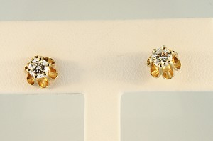 Buttercup Style Diamond Earrings  19510