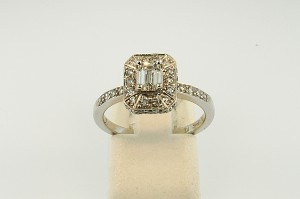 Halo Style Diamond Engagement Ring 19905