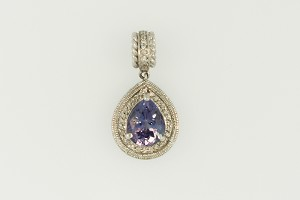 Tanzanite and Diamond Pendant 20077