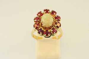 Opal and Ruby Ring 20116