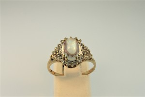 Moonstone and Diamond Ring 20320